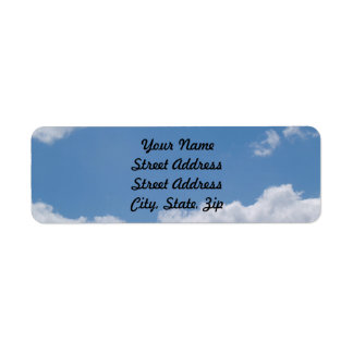 Cloudy Blue Sky Background Return Address Sticker Return Address Label