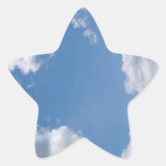 Cloudy Blue Sky Background Star Sticker