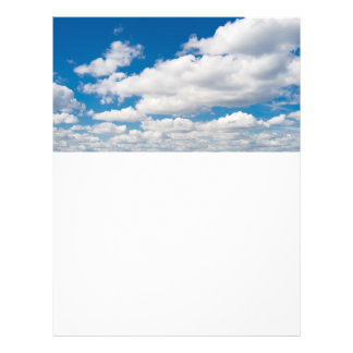 Cloudy blue sky personalized flyer