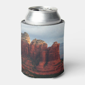 Cloudy Coffee Pot Rock in Sedona Arizona Can Cooler