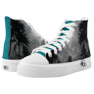 Cloudy day high top shoes