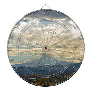 Cloudy Day over Mt Hood in Hood River OR Dartboard