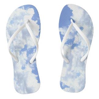 Cloudy Flip Flops