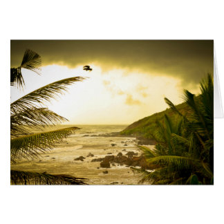 Cloudy Goa Beach Card