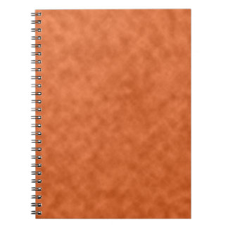 Cloudy Orange and Gray (Grey) Abstract Pattern Notebook