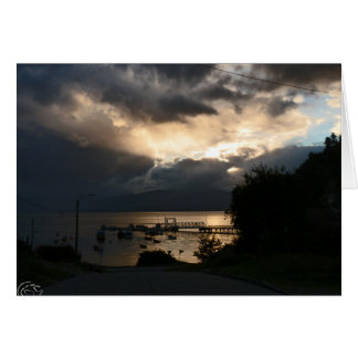 Cloudy Patagonian sunset Card