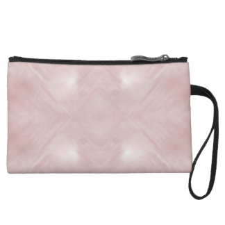 Cloudy Pink Abstract Wristlet Purse