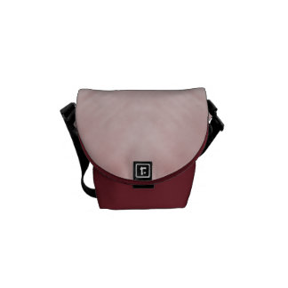 Cloudy Pink Abstract Messenger Bag