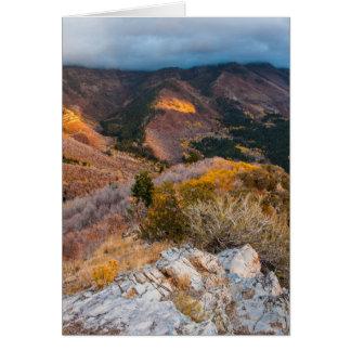 Cloudy Provo Peak Sunset - Utah Card