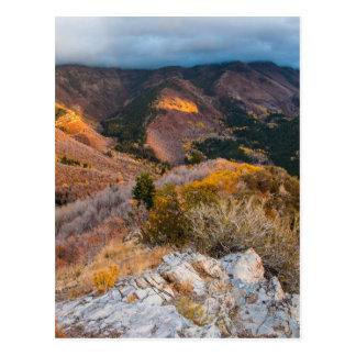 Cloudy Provo Peak Sunset - Utah Postcard