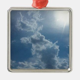 Cloudy Sky 1.0 Metal Ornament