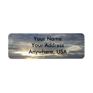 Cloudy Sky Address Labels