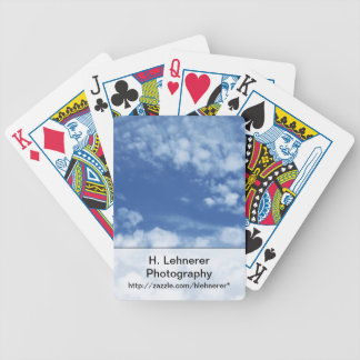 Cloudy Sky Bicycle Playing Cards