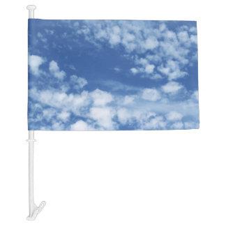 Cloudy Sky Car Flag