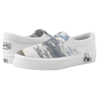 Cloudy Sky Custom Zipz Slip On Shoes,  Men & Women Printed Shoes