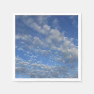 Cloudy sky disposable serviettes