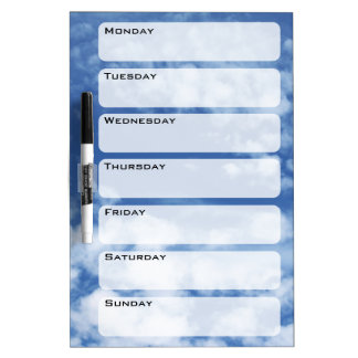 Cloudy Sky Dry Erase Board