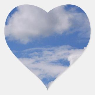 Cloudy Sky .jpg Heart Sticker