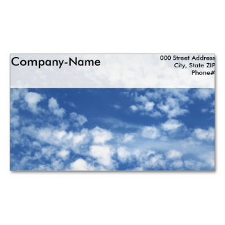 Cloudy Sky Magnetic Business Card