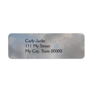 Cloudy Sky Return Label Return Address Label
