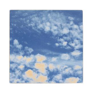 Cloudy Sky Wood Coaster