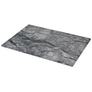 Cloudy Slate Black Streaked marble stone finish Cutting Board