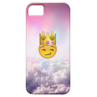 Cloudy Smirk Crown Emoji iPhone Case