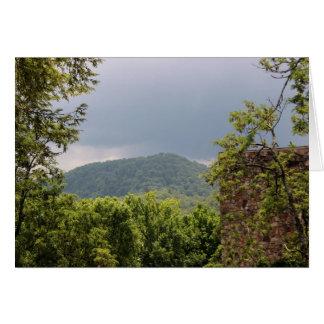 Cloudy Smoky Mountain Note Card