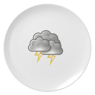 cloudy storm plate