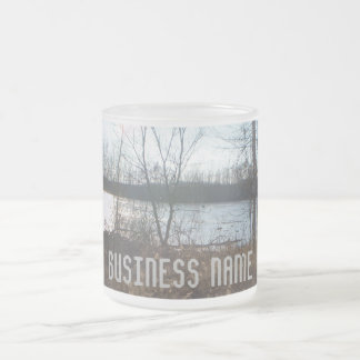 Cloudy Sunset Frosted Glass Coffee Mug