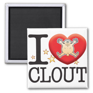 Clout Love Man Square Magnet
