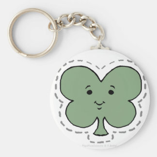 CLOVER BASIC ROUND BUTTON KEY RING