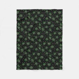 Clover Black Fleece Blanket