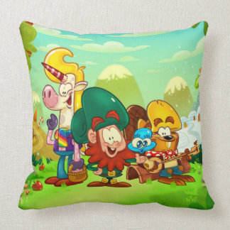 Clover Charms throw pillow