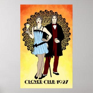 Clover Club -1920s Art Nouveau Poster