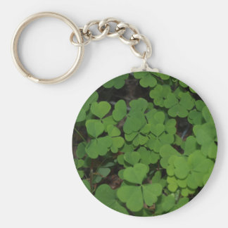 clover cluster basic round button key ring