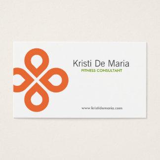 CLOVER DESIGN in ORANGE Business Card