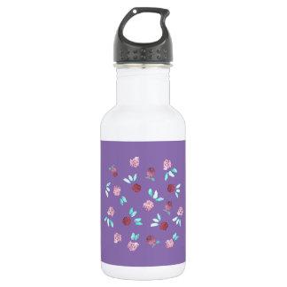 Clover Flowers 18 Oz Water Bottle