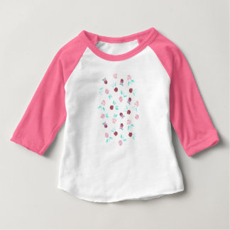 Clover Flowers Baby Raglan T-Shirt