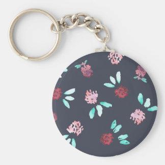 Clover Flowers Basic Button Keychain