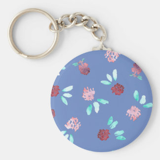 Clover Flowers Basic Button Keychain