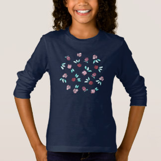 Clover Flowers Girls' Long Sleeve T-Shirt