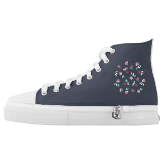 Clover Flowers High Top Shoes Printed Shoes