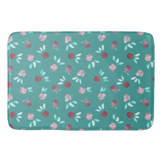 Clover Flowers Large Bath Mat
