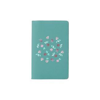 Clover Flowers Pocket Notebook