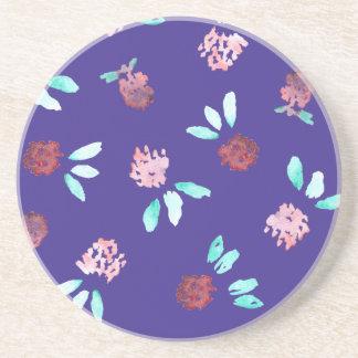 Clover Flowers Sandstone Drink Coaster