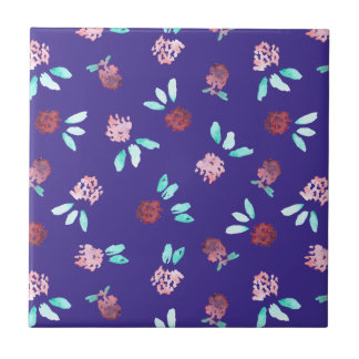 Clover Flowers Small Ceramic Tile