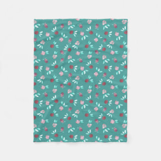 Clover Flowers Small Fleece Blanket