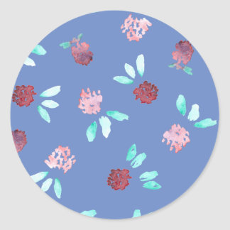 Clover Flowers Small Glossy Round Sticker