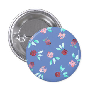 Clover Flowers Small Round Button
